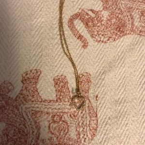 14kt gold diamond necklace